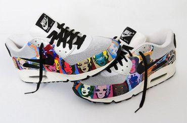 Andy Warhol & Marilyn Monroe Nike Air MAx 90's @ Aztronautz